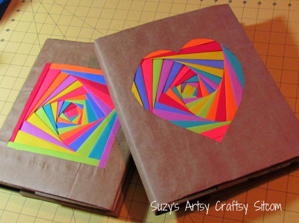 Make Your Own Book Cover Craft ~ Creating colorful book covers with astrobrights papers