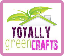 Totally Green Crafts Logo #recycle #crafts