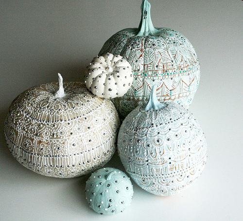 Painted pumpkins from Alisa Burke #pumpkins #diy