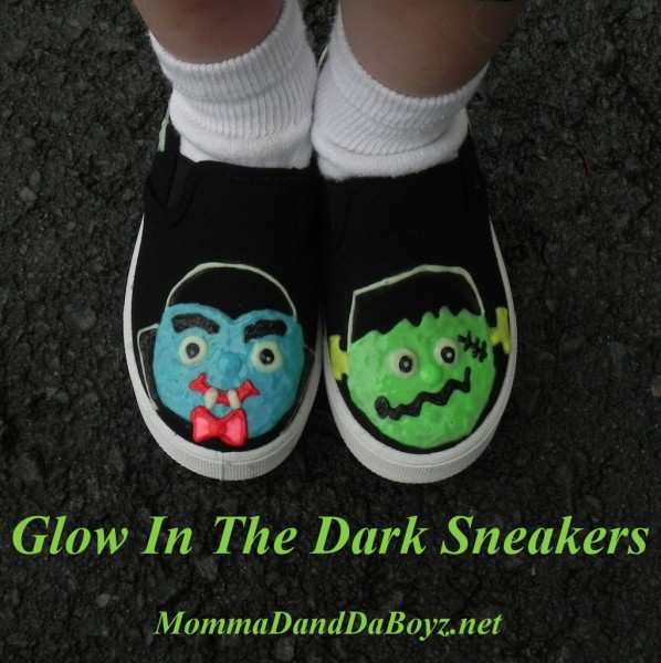 Glow in the Dark Monster Shoes by Momma D and Da Boyz