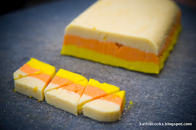 Candy Corn Sugar Cookies from Kathie Cooks #Halloween #cookies #recipe