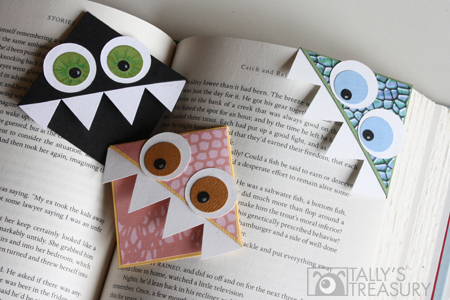 Monster Bookmarks from Talley Crafts #monster #halloween