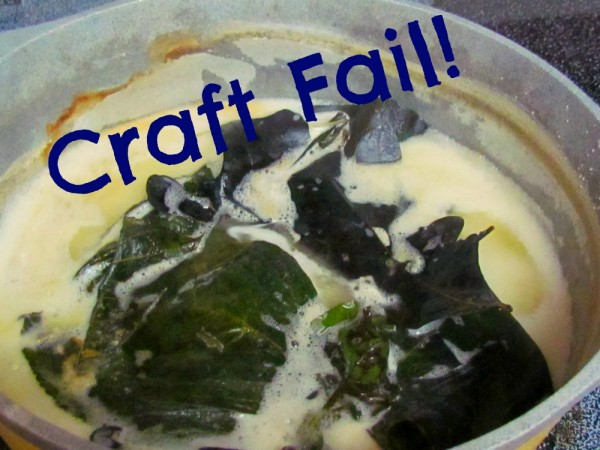 craft fail making leaf skeletons