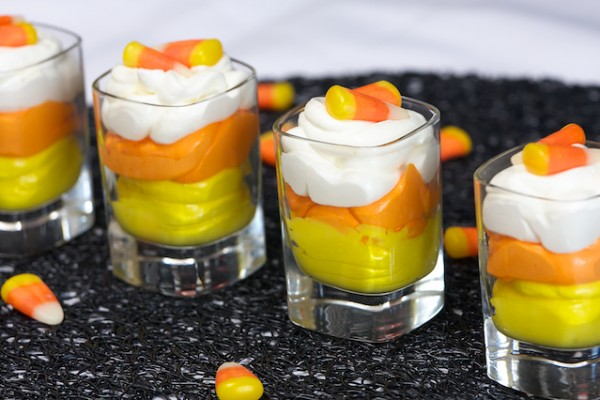 Candy Corn Mousse from Live Love Pasta #Halloween #recipe #holiday