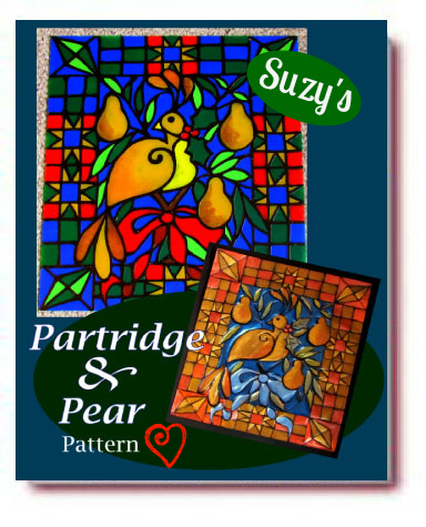 Partridge and Pear Pattern/Suzys Artsy Craftsy Sitcom #pattern #Christmas #holiday