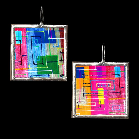 Soldered Glass pendants