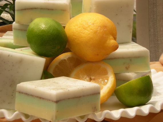 Lemon and lime scented soap