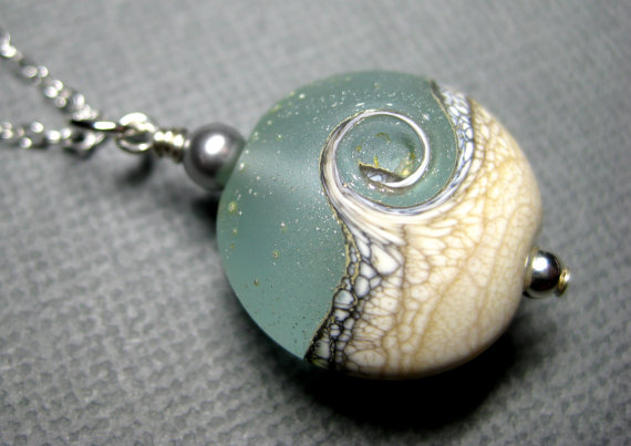 Lampwork Necklace ocean #jewelry #etsy
