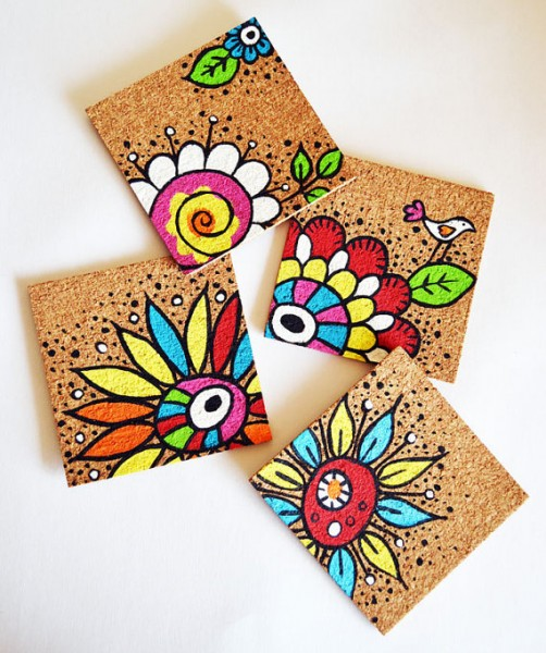 Handpainted coasters