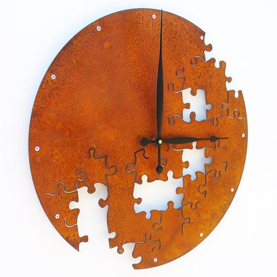 Metal Puzzle Clock
