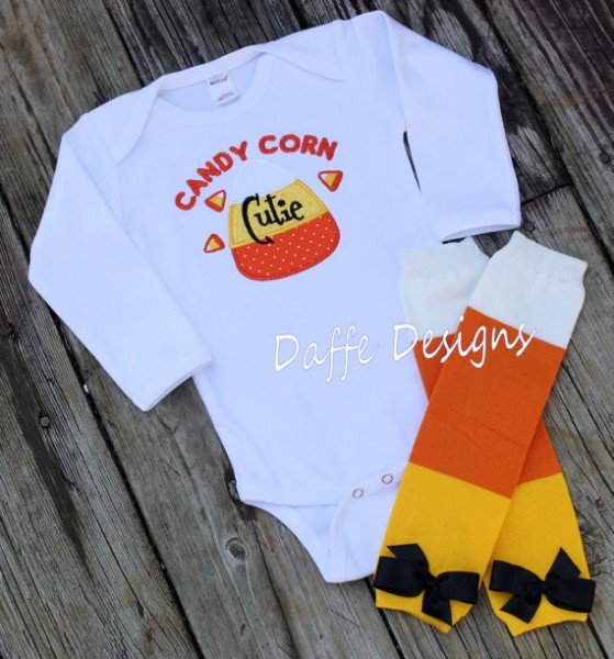 Candy Corn Baby outfit #Halloween