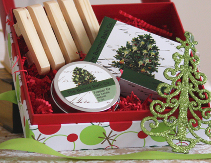 Christmas gift set/The Bonnie Bath Co #etsy