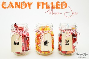 Candy-Filled-Mason-Jars by Cherished Bliss #Halloween