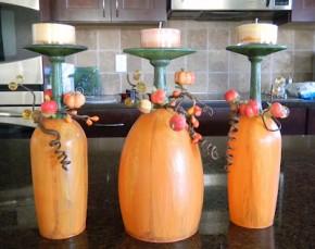 Wine glass pumpkins #pumpkins #Halloween
