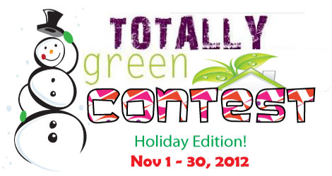 Green-Holiday-Contest-logo/Totally Green Crafts