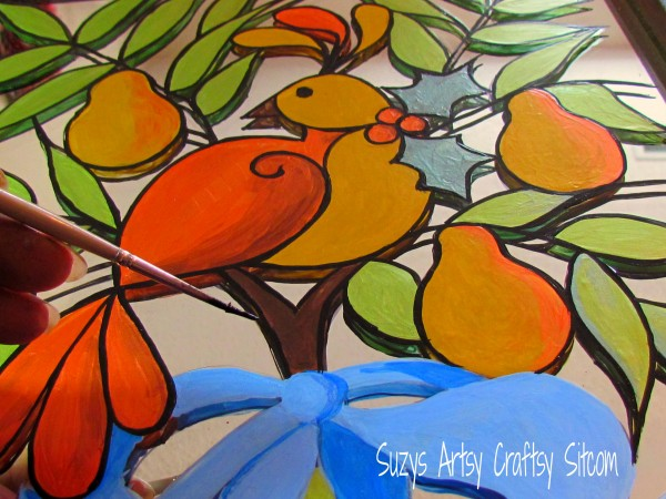 Holiday Partridge Mirror/Suzys Artsy Craftsy Sitcom #pattern #holiday #Christmas