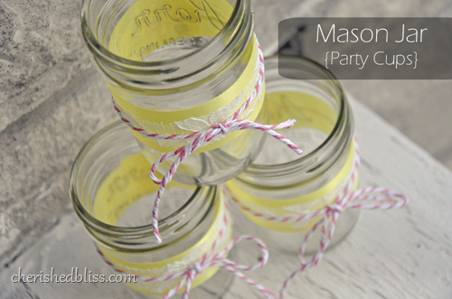 Pink Lemonade Mason Jars by Cherished Bliss