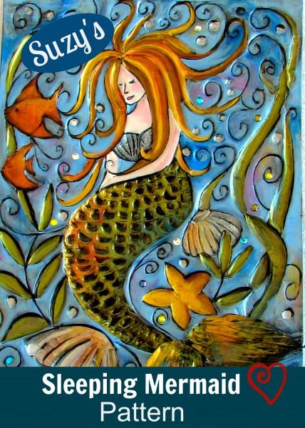 Sleeping Mermaid/Suzys Artsy Craftsy Sitcom #pattern #diy @suzy6281