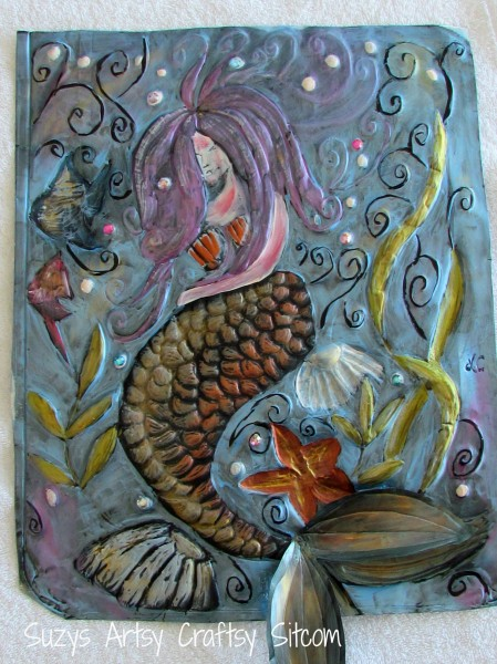 Sleepy Mermaid/Suzys Artsy Craftsy Sitcom #recycle #embossing #tutorial @suzy6281