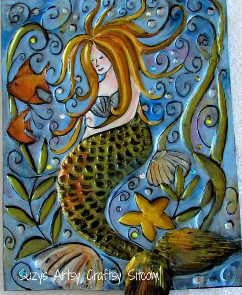 Sleeping Mermaid/Suzys Artsy Craftsy Sitcom #pattern @suzy6281