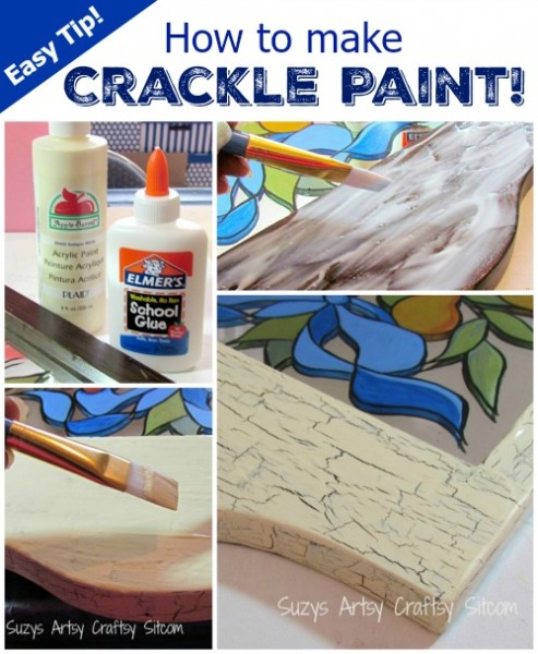how to make faux crackle paint