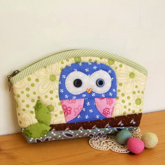 DIY Owl Pencil Case Kit/Suzys Artsy Craftsy Sitcom #Etsy
