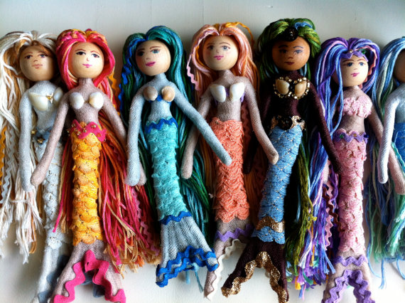 Mermaid Doll Kit by Shershells Emporium/Suzys Artsy Craftsy Sitcom #Etsy