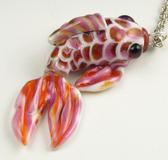 Koi Fish Pendant by Beth Knapp Tyner #jewelry #lampwork
