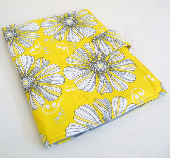 Gray and Yellow iPad case #etsy #case #iPad
