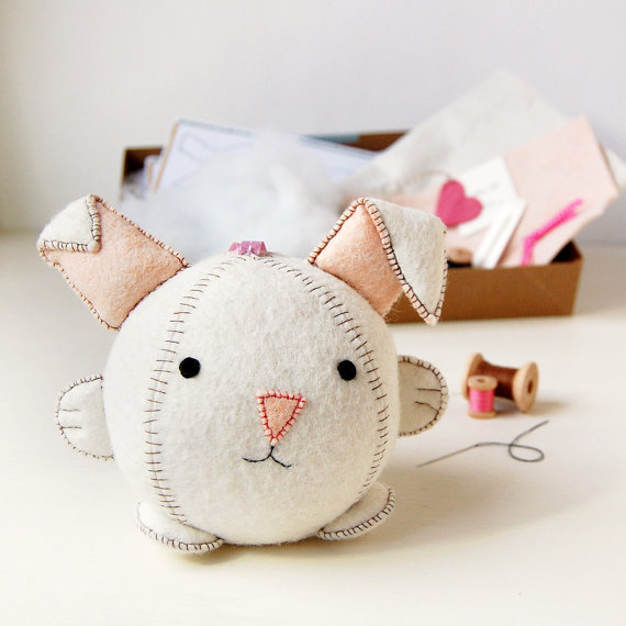Rabbit Toy Sewing Kit by Cupcakes for Clara/ Suzys Artsy Craftsy Sitcom #Etsy