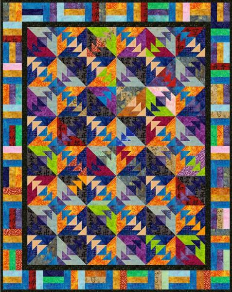 Batik Lap Quilt Kit by Baxters Quilt Studio/Suzys Artsy Craftsy Sitcom