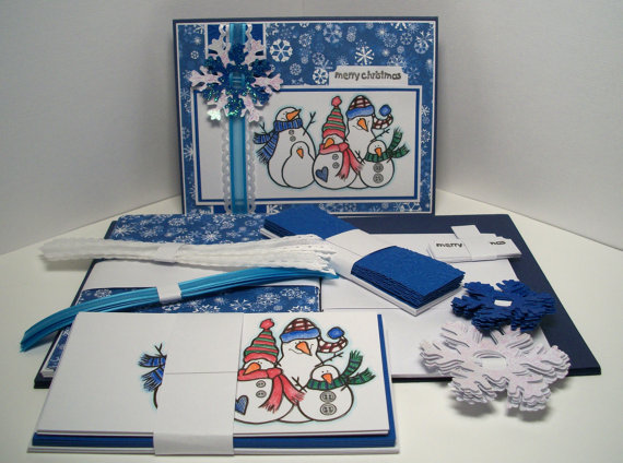 Snowman Card Kit by Scrappy Sweet Creations/Suzys Artsy Craftsy Sitcom #Etsy