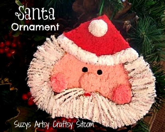 Santa Ornament / Suzys Artsy Craftsy Sitcom #paper crafts #Christmas