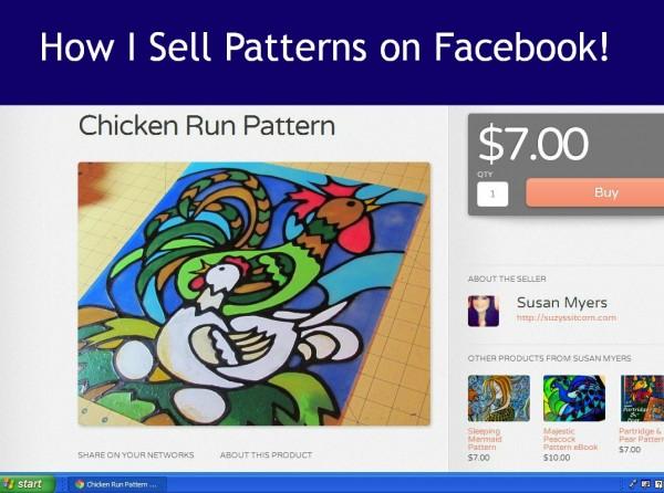 How I sell Patterns on Facebook/Suzys Artsy Craftsy Sitcom #ShopLocketLove