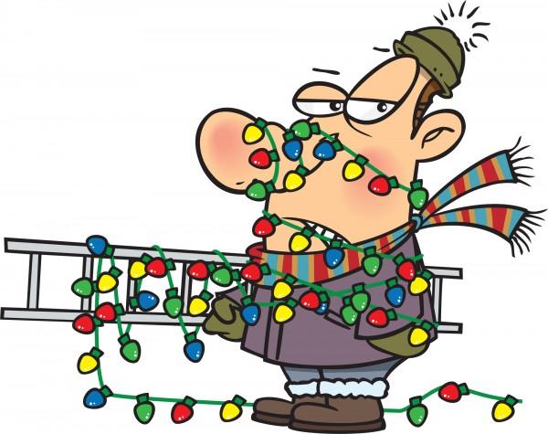 entangled in Christmas lights /Suzys Artsy Craftsy Sitcom