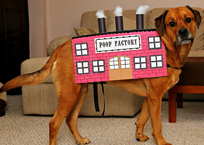 Poop Factory Dog Costume from Turtles and Tails #Halloween