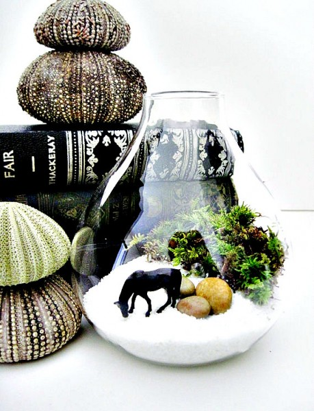 Miniature Wild Horse Terrarium by Doodle Bird Imaginariums #Etsy