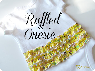 Ruffled Onesie by Etcetorize