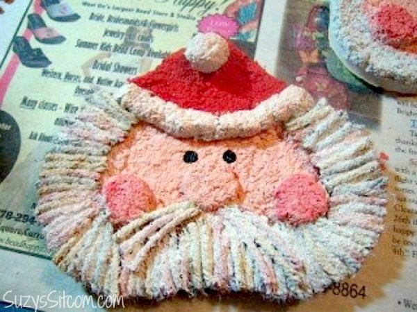 paper mache santa ornament diy