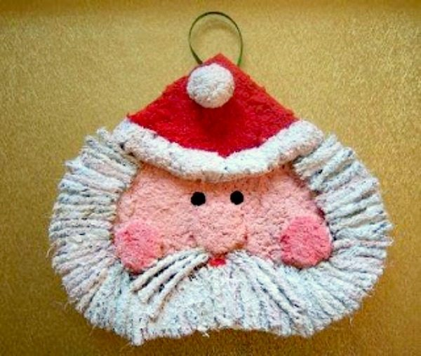 paper-mache-santa-ornament-diy2