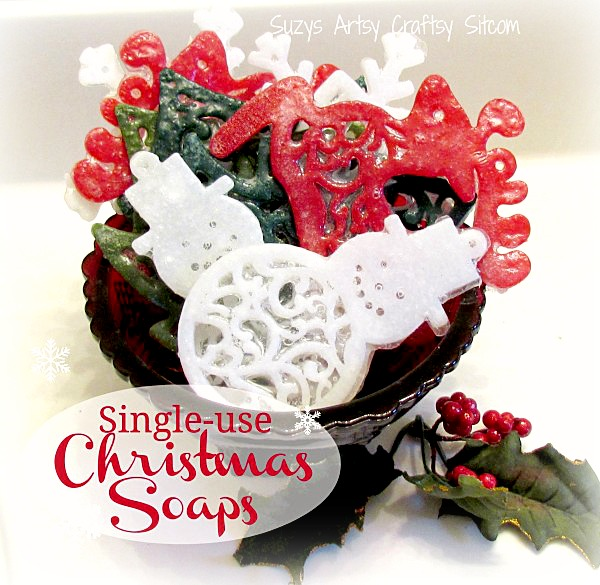 single use diy christmas soaps
