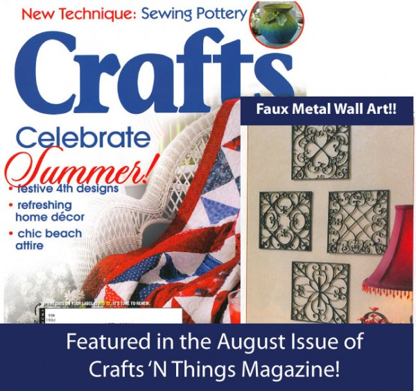 crafts n things magazine faux metal wall art