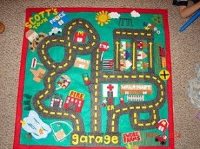 Play Mat Garage by A Girl and a Glue Gun