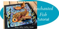 enchanted fish pattern embossed metal tutorial
