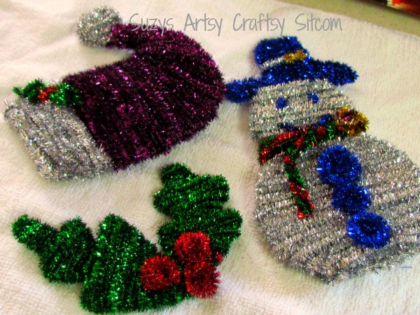 sparkly pipe cleaner ornaments