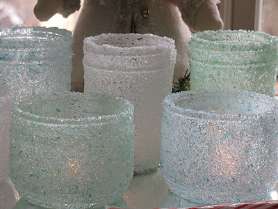 Epsom Salt Luminaries by Crafts by Amanda #Holiday #decorations