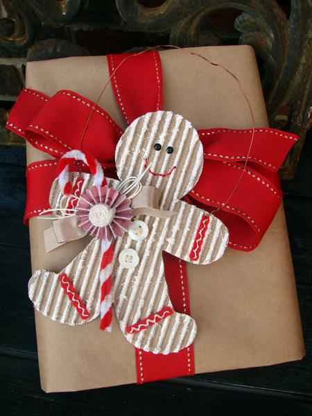 Gingerbread Boy Ornament by Audrey Pettit #Christmas #decoration