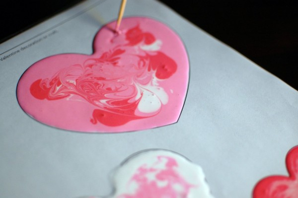 valentine diy window clings
