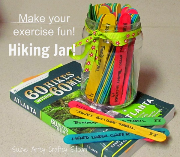 hiking jar for your exercise new years resolution