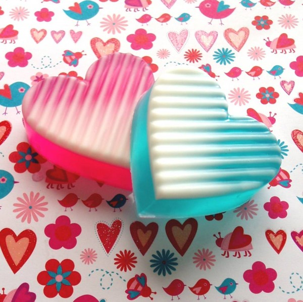 ombre hearts soaps diy by soap queen